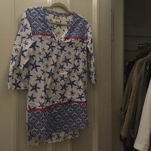 Hatley Starfish Coverup, Size Small.